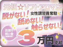 元祖超ソフトアロマ店☆脱がない・舐めない・受身なし・ハンドのみ☆の超ソフトなアロマエステのお店です。