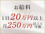 1日20万円。月250万円以上の高収入も可能です