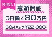 大手グループだからできる高額保証!!6日で80万円保証!!