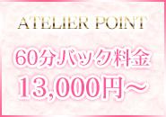 60分バック料金13,000円~ + オプション料金完全フルバック