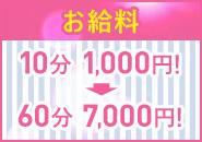 60分のお給料は7000円!