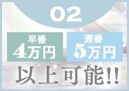 指名バックが1本¥2,000!頑張れば、頑張るほど、稼げるシステム!