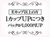 特に胸の大きい方必見です Eカップ以上の方は カップが上がるごとに 基本バックが1000円づつ上がります